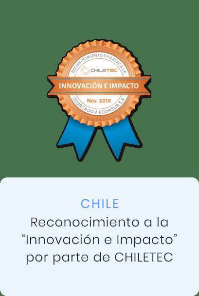 Reconocimiento a la innovación e impacto por parte de Chiletec, Chile