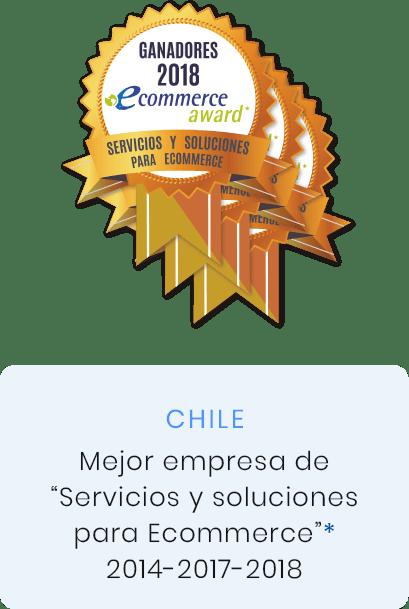 premio mejor empresa de servicios y soluciones para ecommerce 2014, 2017, 2018, Chile